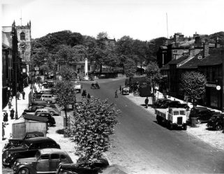 Black and White Photo of Skipton High Street