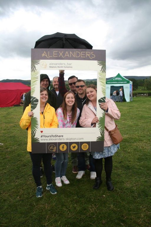 Festival-goers at The Yorkshire Dales Food & Drink Festival