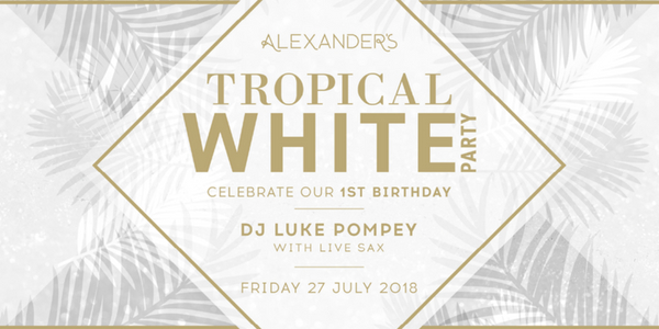 Alexander's 1st Birthday Tropical White Party